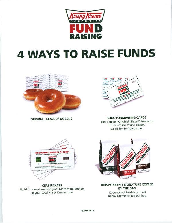 Krispy Kreme Fundraiser Form - Image Mag