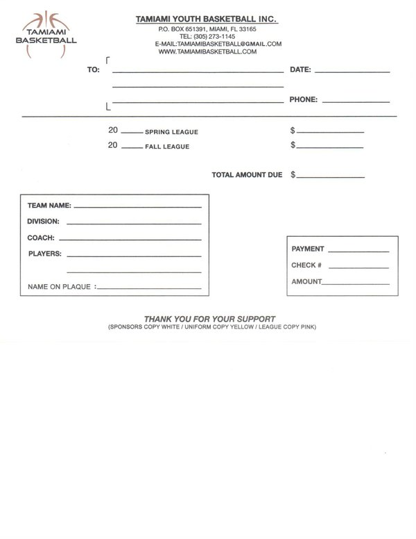 baseball team sponsorship form template – Template Sponsor Form