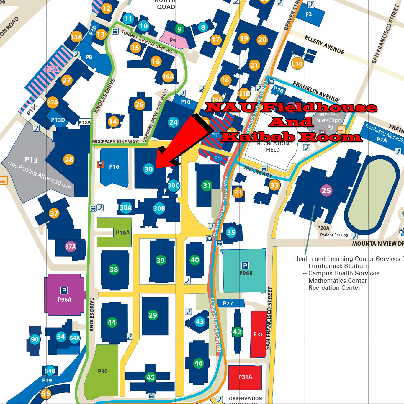 northern arizona university campus map car interior design