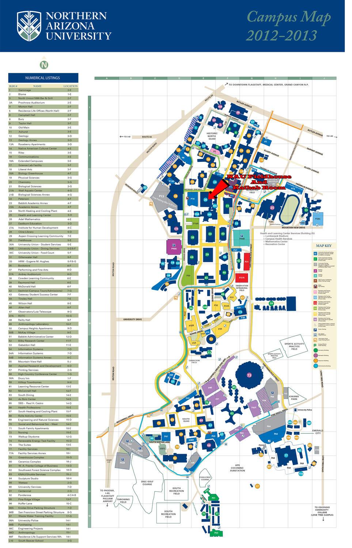 Map Of Northern Arizona University Afputracom - Map of northern arizona
