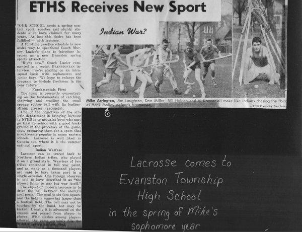 Evanston Lacrosse Origins, 1959