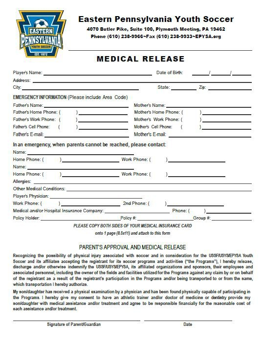 Formswork Release Forms. Medical Release To Work Medical Work