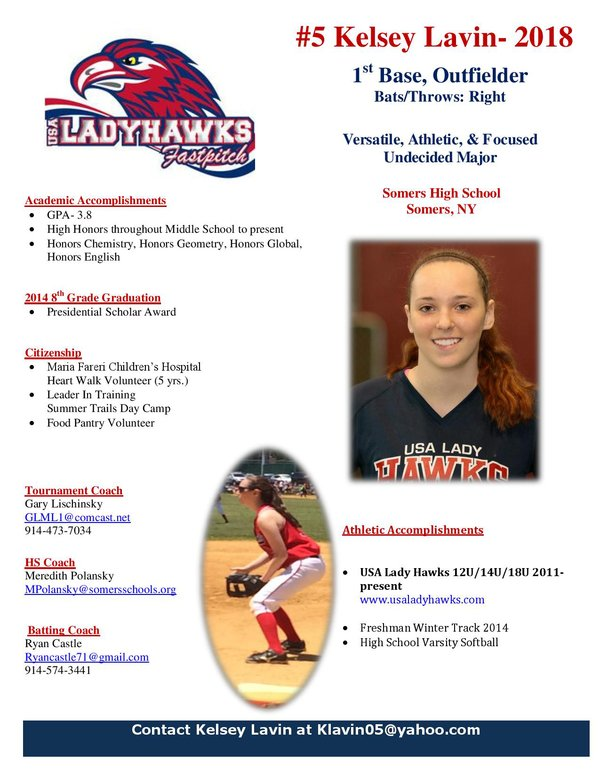 softball player profile template Success