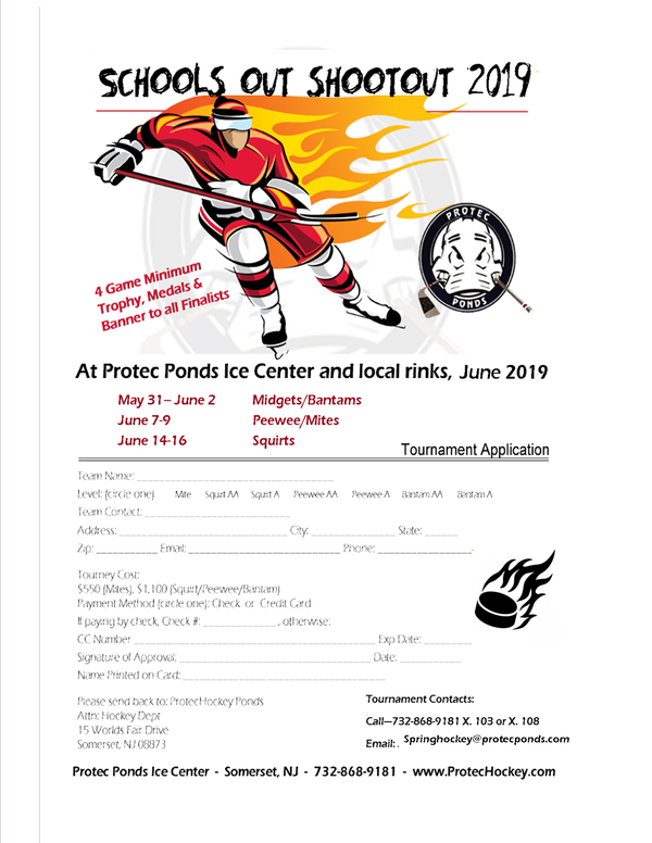 Schools Out Shootout 2019 Youth Hockey Tournament
